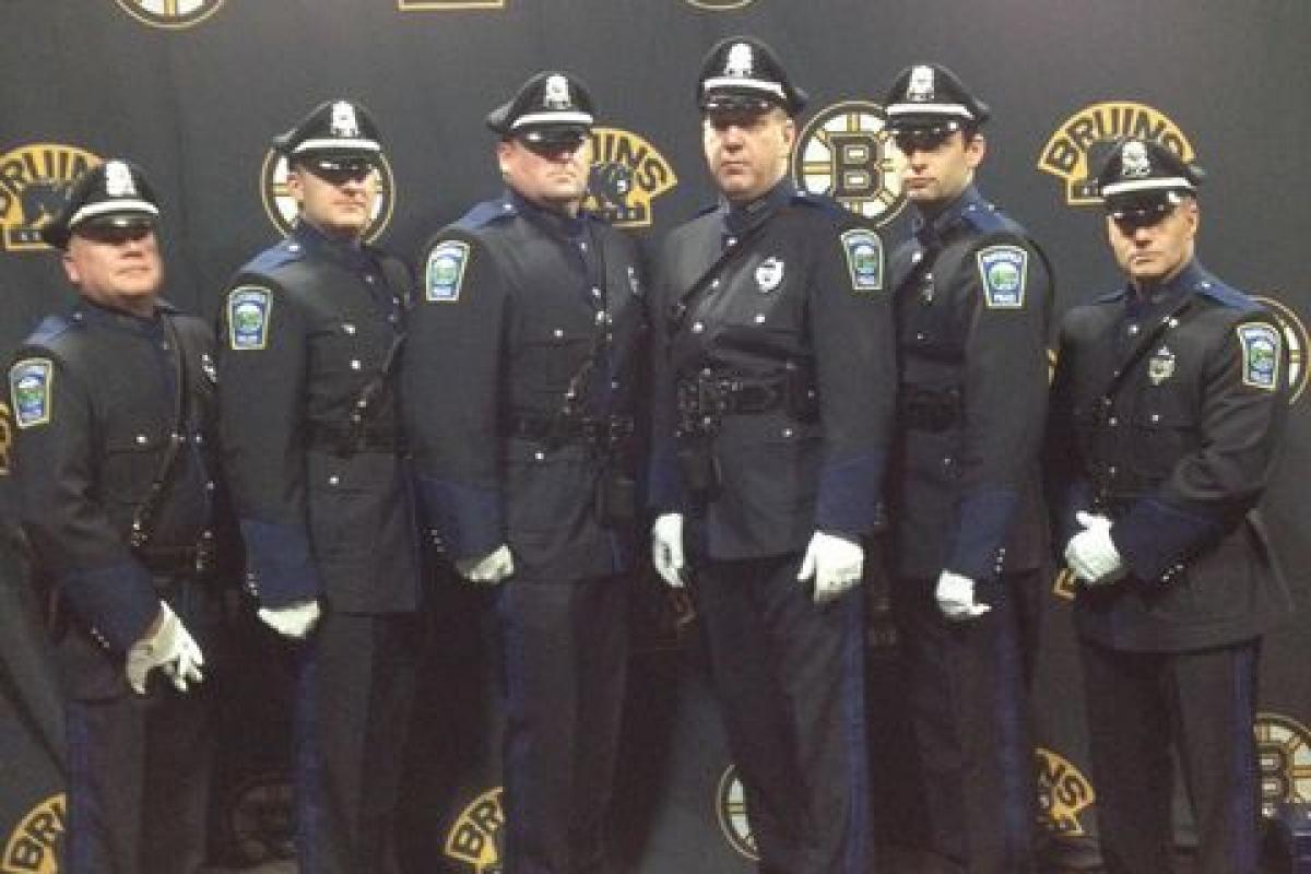 "MPD Honor Guard in ""Marshfield High School Day @ Boston Celtics"""